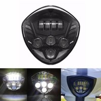 Led Headlight Bulbs Black 60W Cre-e Headlamp Driving Lights DRL для мотоциклов Victory Cross-Country Lighting
