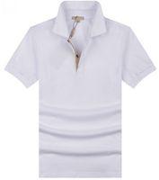 esportes dos homens polo tees venda por atacado-Valor Comprar Mens Polo Casual T-Shirt Brit Estilo Algodão Camisetas de Manga Curta de Verão Lazer Esporte Camisetas Primavera Outono Marca Sólida T Shirt