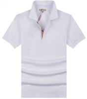 ingrosso mens tee sport di polo-Value Buy Mens Casual Polo T-Shirt in cotone stile britannico T-shirt manica corta estate per il tempo libero Sport Shirts Primavera Autunno Marca Solid T Shirt