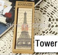 установить закладку оптовых-Оптовая продажа-30 шт./компл. Vintage Tower series Bookmark set / бумажные закладки для книг / держатель книги / Kraft package / retail