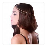 correntes para cabelos venda por atacado-2017 Trendy Head Chains Acessórios Para o Cabelo Strass Moda Jóias Cabeça de Cristal Cabeça Faixa de Cabelo Headwear Mulheres Lady Bun Cabelo Frete Grátis