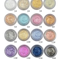 All'ingrosso Amore Alpha 16 Eye Color Glitter Eyeshadow Gel brillante metallizzato in polvere Pigmento Profumo Odore Magic 3D Eye Shadow