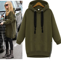 Wholesale Loose Turtleneck Hoodie - Sweatshirt Autumn Winter Women Vestido Moletom Kpop Sudaderas Mujer Long Hoodie Dress Loose Turtleneck long Sleeve Cotton