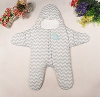 Wholesale Sleeping Bag Out - Newborn Baby Sleeping Bag Good Quality Warm Sleeping Bag Starfish Baby Sleeping bag Playing Out By Cart Windproof five star Blanket WD069