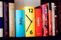 Wholesale Led Item Price - Wholesale-At a low price Free Shipping 1pc 2016 New Arrival Book Set Desk Clock Novelty Item Karlsson Books Clock Home Deccoration