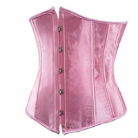 Wholesale Cheap Plus Size Underbust Corsets - women satin corsets and bustiers black underbust corset plus size waist cincher sexy lingerie corset cheap s-6xl pink red white