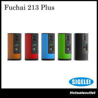Wholesale Baby Temp - Authentic Sigelei Fuchai 213 Plus Mod 213W Temp Control Vape Mod Powered by Dual 18650 Battery Best Match with Smok Big TFV8 BABY