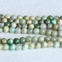 """Wholesale Green Jade Beads 4mm - Wholesale Natural Genuine Green Jade Round Loose Stone Beads 4mm 6mm 12mm Fit Jewelry DIY Necklaces or Bracelets 15.5"""" 05226"""
