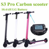 Wholesale 24v bicycle - Foldable Carbon Electric Scooter Hoverboard 10.4AH LG Battery for Adults and Children Electric Bike Bicycle Electrombile
