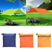Wholesale Ultralight Tents Backpacking - Wholesale- 210T nylon fabric Ultralight Sun Shelter Camping Mat Beach Tent Pergola Awning Canopy 190T Taffeta Tarp Camping Sunshelter
