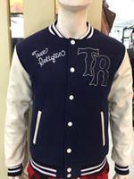 Wholesale Jeans Jacket Short Sleeves - Fashion American Style Designer men jacket US size Brand true sweat suit man Sport Suit coat jacket tr jeans Hoodie Sweatshirts