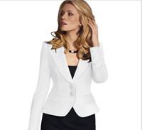 Wholesale Bamboo Lady Wear - Spring Women Slim Blazer Coat New Fashion Casual Jacket Long Sleeve One Button Suit Ladies Blazers Work Wear