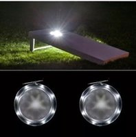 Wholesale Colorful Bean Bags - 2xCornhole Lights LED Night Lights High Quality colorful 10 LEDs PER HOLE Corn Hole Bean Bag Toss Board Game Lights NEW
