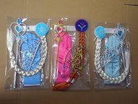 Wholesale Headband Wigs Hair - Frozen Headbands sets Girl's Christening Dresses Hair Accessories 4pcs sets=Crown+ Wig+Wand + Gloves Baby Christmas best gift