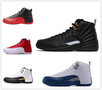 Wholesale Play French Games - retro 12 master french gamma blue play off flu game men women new basketball shoes sneakers black white size 13 Michael Sports