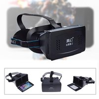 Wholesale 3d Movies Wholesale Price - RITECH II Head Mount Plastic Version 3D VR Virtual Reality Glasses Google Cardboard 3D Movies 3D Games Factory Price