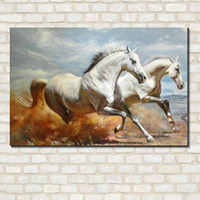 Wholesale Horse Abstract Wall Oil Paintings - 2016 New Wall art pictures for living room oil decorative canvas art paintings painting HORSE