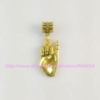 Wholesale Pinkie Ring - Wholesale- Greek Sorority AKA pinkie up Charm With ring fit bracelet 10pcs 1 lot