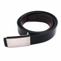 Wholesale Narrow Trousers - Wholesale- Real Leather Belt Simple Design Business Genuine Leather Belts for Men Black Pin Buckle Belt Trouser Strap Pants Band Ceinture