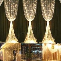 Wholesale Connect Strings - 2017 NEW Curtain Lights 300led 3m*3m( can connect multi) 600led 6m*3m 216led5m*0.8m String Lights for Home, Garden, Kitchen, Outdoor,MYY