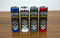 Wholesale Day Dead Skulls - Limitless mod sleeves indian skull chief sleeve 4 colors and day of dead sleeve diamondback sleeve batch in stock on sale