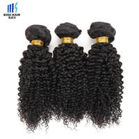 3Pcs de qualité supérieure Peruvian Kinky Curly Braid Virgin Hair Bundles Afro Kinky Curly Style Jerry Curly Unprocessed Remy Human Hair Weave