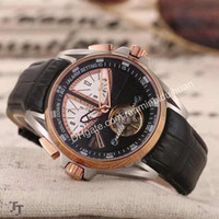 Wholesale Men S Business Watch - 2016 Hot Luxury quality men 's watches leather automatic mechanical tourbillon watch business brand sports wristwatch