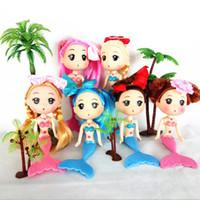 ingrosso bambole di ddung-Mini bambola della sirena, 15 cm mini ddgir DDung bambole con diversi copricapo per bambola torta stampo decorazione ragazze migliore regalo 100 pz