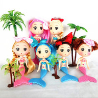 Wholesale Mini Ddung Dolls - Mini Mermaid Doll,15cm Mini ddgir DDung Dolls with Different Headwear For Doll Cake Mold Decoration Girls Best Gift 50pcs