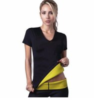 Wholesale Hot Workout Clothes - Wholesale- Hot Shapers Lose Weight Woman Short Sleeves Tops Fitness T Shirt Spontaneous Hot Thin Body Workout Clothing
