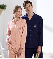 Traditional black pajama sets - Shopping malls counter new spring cotton lovers can be used to wear home clothing cotton long sleeves pajamas