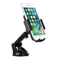 iphone için emiş aparatı toptan satış-Klip Araç Tutucu Cam Ayarlanabilir Cradle Telefon Montaj Dirseği Emme iPhone 8 7 Samsung Galaxy S8 Artı