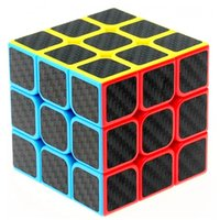 Wholesale Carbon Fiber Cube - Zcube Carbon Fiber Stickers 3x3x3 Speed Magic Cube Puzzle Game Cubes Educational Toys For Kids Children Birthday Gift