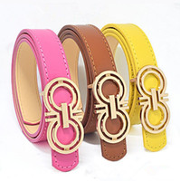 Wholesale kids boys belts - Classic Fashion Kids Faux Leather Belts Brand Designer Children Buckle Belt Girls Boys Leisure Strap High Quality