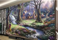Wholesale Fairy Tale House - modern wallpapers for bed room nonwoven wallpaper luxus Fairy tale landscape painting background wall custom wallpaper mural