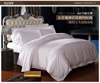 Wholesale hotel quality duvets - Wholesale- New high quality home and hotel bedding set, 2 pillow case, 1 bed sheet and 1 duvet cover bed cover