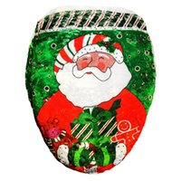 Wholesale Santa Toilet Seat Cover Christmas Toilet Sets A Single Cover Printed Toilet Sets Of Christmas Decorations