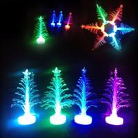 UK led fiber tree - Colorful LED Fiber Christmas Tree Light Colorful Illuminous Flashing Xmas Tree Night Light Lamp Outdoor LED Christmas Light Decorations