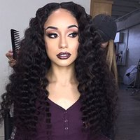Wholesale Indian Remy Hair Wholesale Wig - 130% Density Lace Front Human Hair Wigs For Black Women short wigs Pre Plucked Natural Hairline With Baby Hair Remy Hair deep wave wig