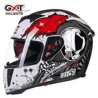 Wholesale Electric Helmets - GXT motorcycle helmet double lens cover all full face electric safety helmet four seasons general