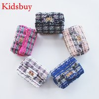 Wholesale Gilrs Bags - Kidsbuy Woolen leather purse for Child shoulder bag for Childrens Baby gilrs Autumn Stylish Messenger bags Kid's Purse kids mini bags KB074