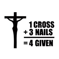 Wholesale Cross Nail Decals - Cool Graphics Jesus Cross Nails Forgiven Decal Funny Vinyl Car Stickers Car Accessories JDM