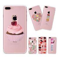 Wholesale Iphone Cases Icecream - Cartoon icecream Case for iphone 5 5s 6 6s 7 plus TPU 3D Phone Case DIY Print Custom Cool for Girl Transparent