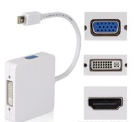 Wholesale microsoft vga for sale - Mini DisplayPort in Thunderbolt to HDMI DVI VGA Display Port Cable Adapter for Apple Macbook Pro Microsoft Surface Pro