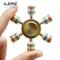 Wholesale Germany Toys - 2017 New Fidget Spinner High Quality Imported Germany Bearing Long Rotation 6-9 Mins Triangle Tri Spinners EDC Toys Colorful Hand Spinner