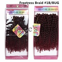 Wholesale Very Curly Hair - Very Beauty Women freetress crochet braids jerry curl ombre synthetic hair extensions freetress crochet braid curly hair ombre burgundy 3pcs