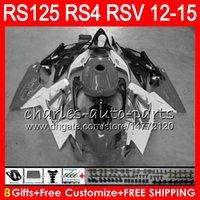 aprilia rsv weiße verkleidungen großhandel-Einspritzung für Aprilia RS4 RS125R RS 125 2012 2013 2014 2015 RS-125 Grauweiß 72NO42 RSV125 12-15 RS125RR RSV 125 RS125 12 13 14 15 Verkleidung
