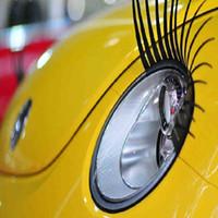 autoscheinwerfer wimpern großhandel-3D Charming Auto Wimpern Gefälschte Wimpern Aufkleber Auto Scheinwerfer Dekoration Selbstklebende Lustige Aufkleber für Käfer