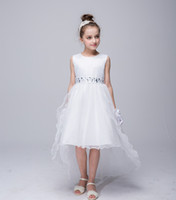 Wholesale Special Occasions Children - Teenage Girl Dress 2017 Summer Brand Children Evening Princess Dress High Grade Trailing Dresses For Girls Special Occasion Wear