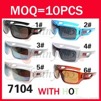 Wholesale Wholesale Wooden Goods - New Arrival Classic Style Men's SPORT Sunglasses New Color Sunglasses Black Frame Acrylic Flame Lens AAA+ good quality free shipping
